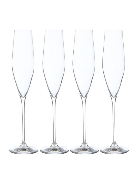 Linea Hannah crystal champagne flute set of 4