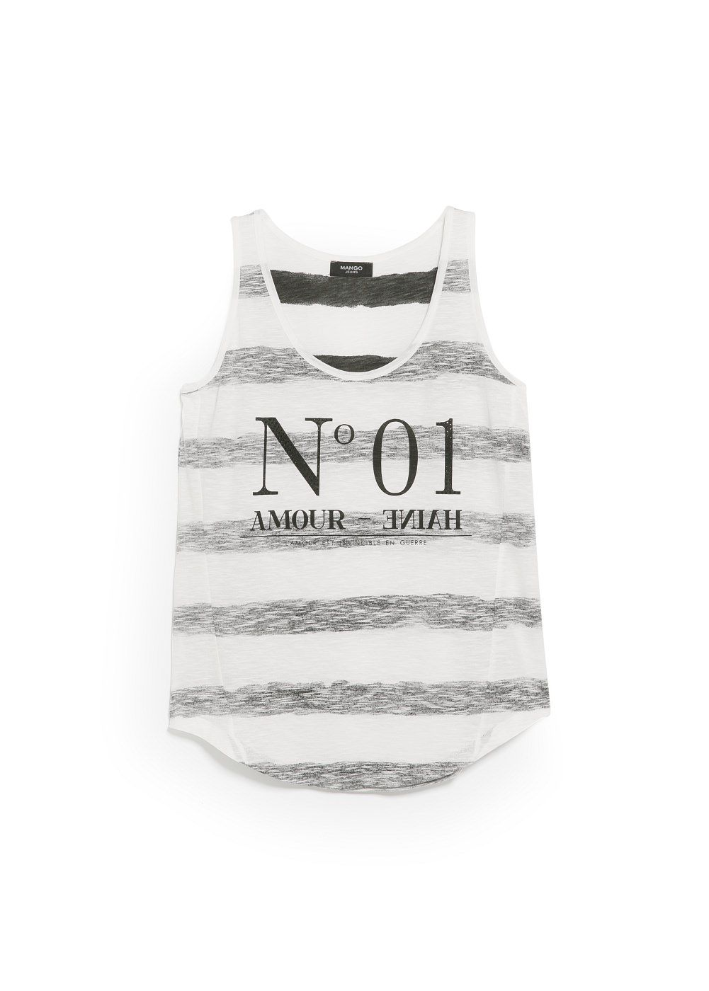 Striped message top