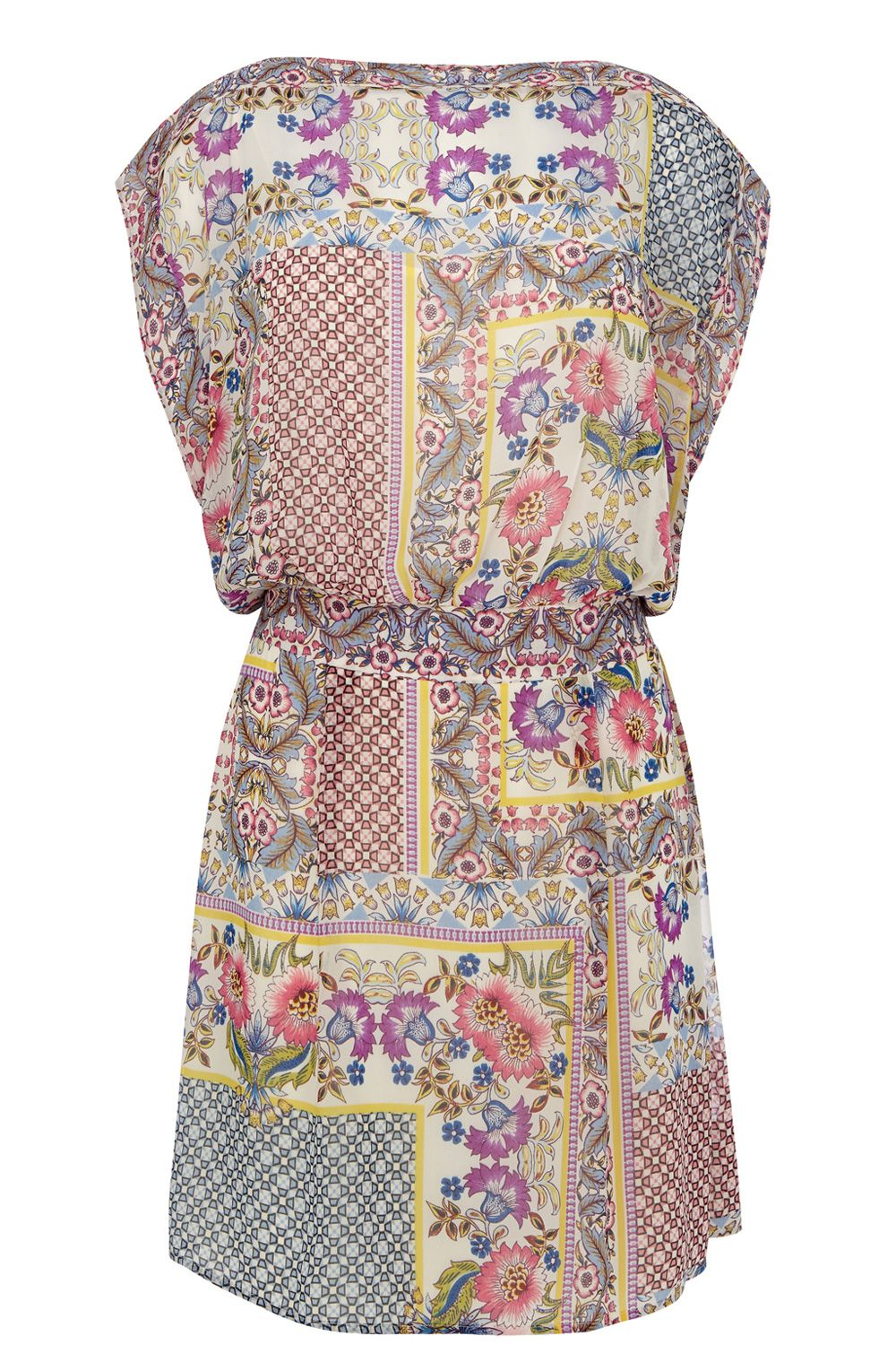 Pretty floral patchwork dress