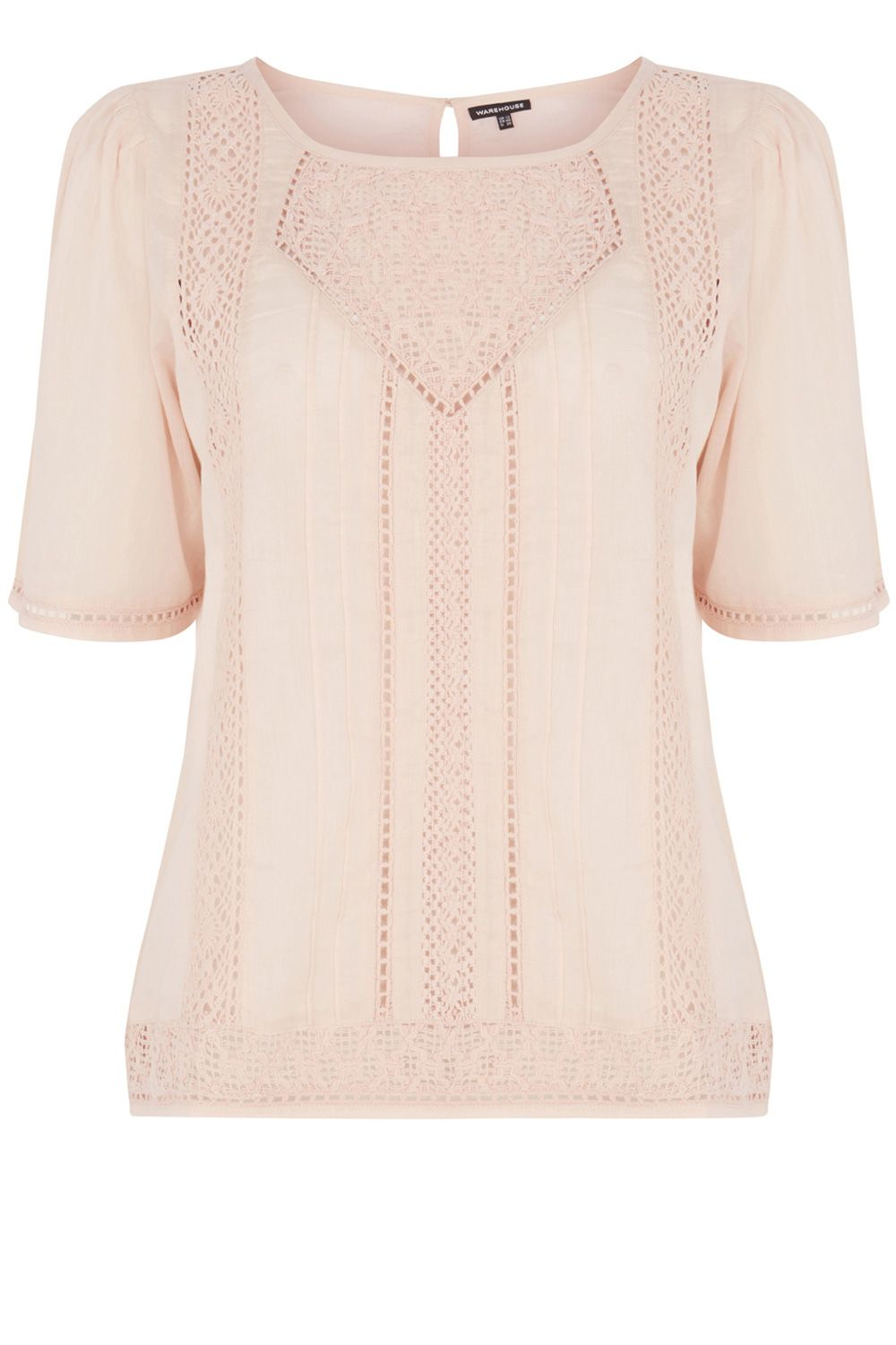 Embroidered smock top