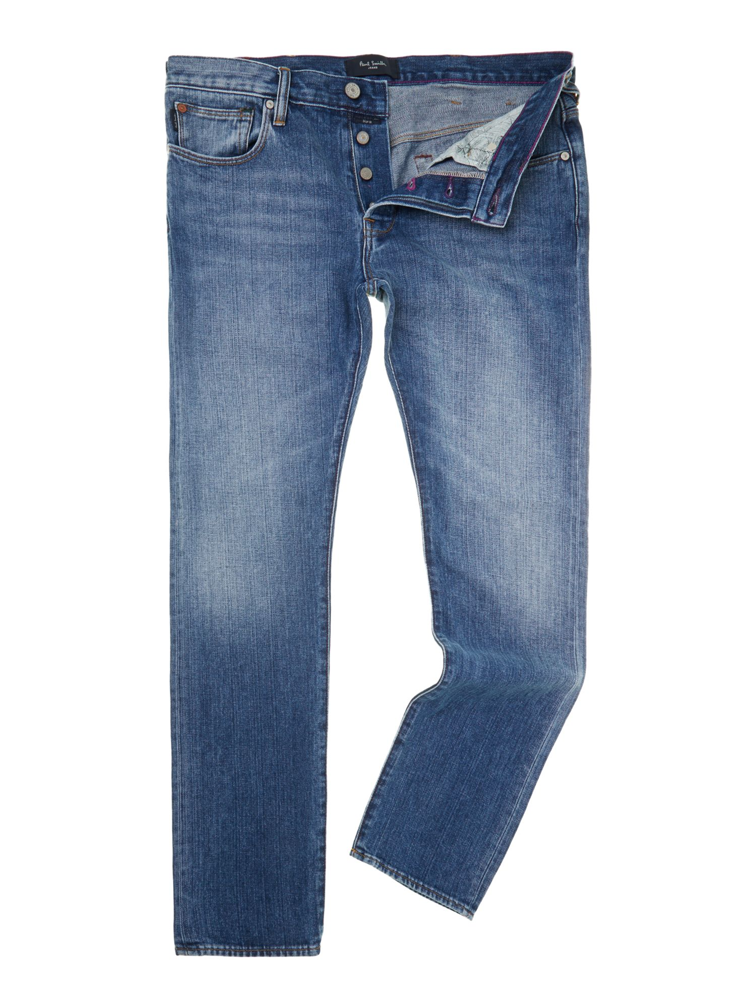 Tapered light wash jeans
