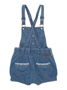 Girls denim short playsuit