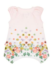Girls tunic with flower print