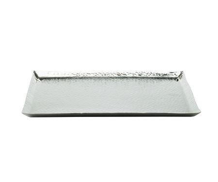 Casa Couture Beaten metal large square platter