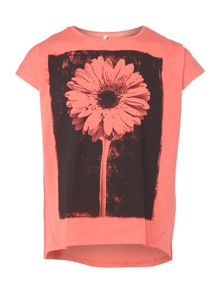 Girls flower print t-shirt