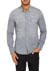 Denim sawtooth western shirt