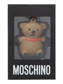 Brown teddy USB necklace
