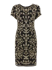Gold Limited Edition Embellished detail dress