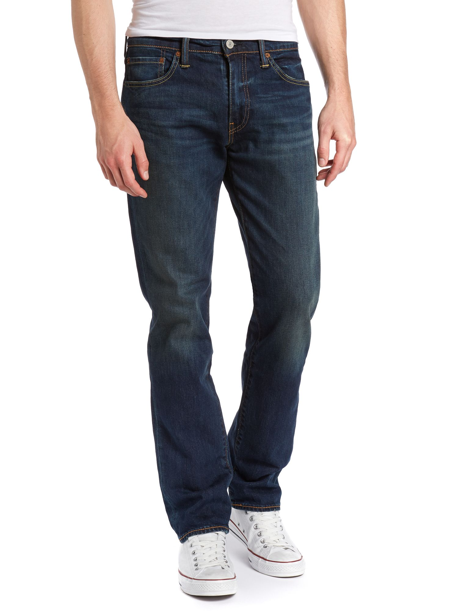 511 green edge dark wash slim leg jean