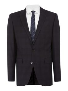 Simon Carter Shadow check slim fit suit jacket