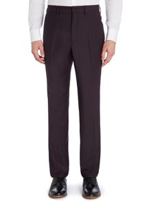 Solid slim fit suit trouser