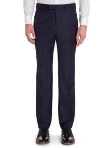 Grid jacquard slim fit suit trouser