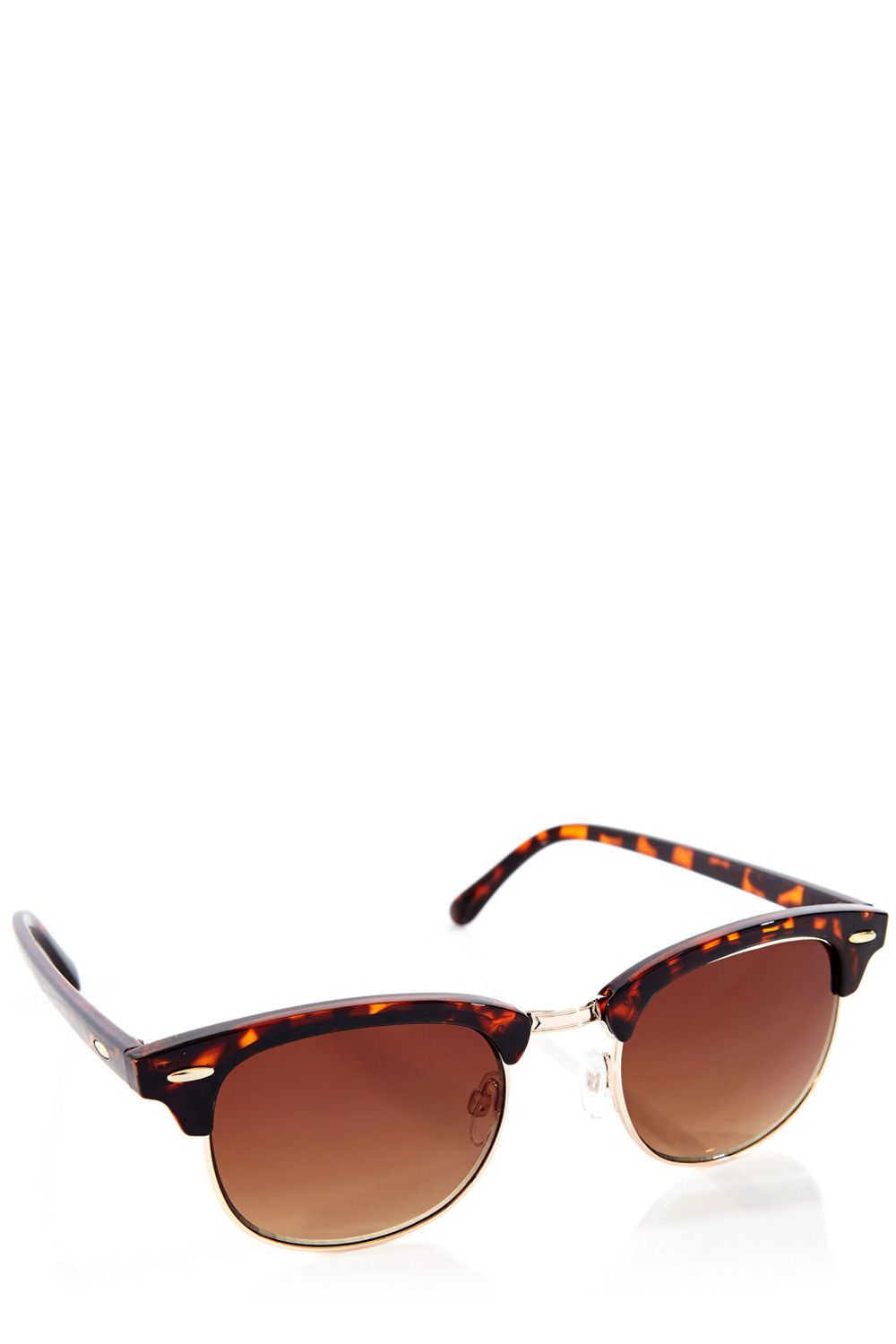Half metal frame sunglasses