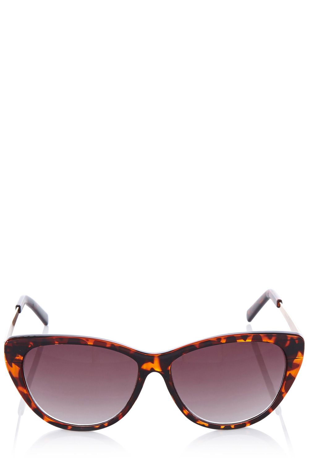 Cat eye metal detail sunglasses