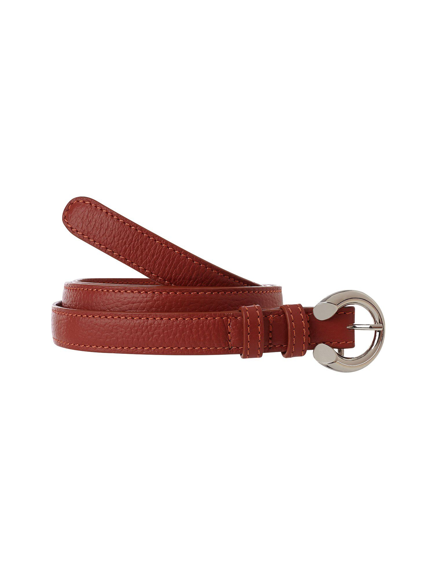 Orange skinny belt