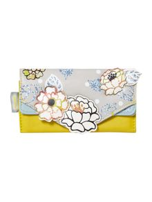 Carnaby multi-coloured floral flap over purse