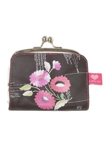 Sew on multi-coloured floral coin purse