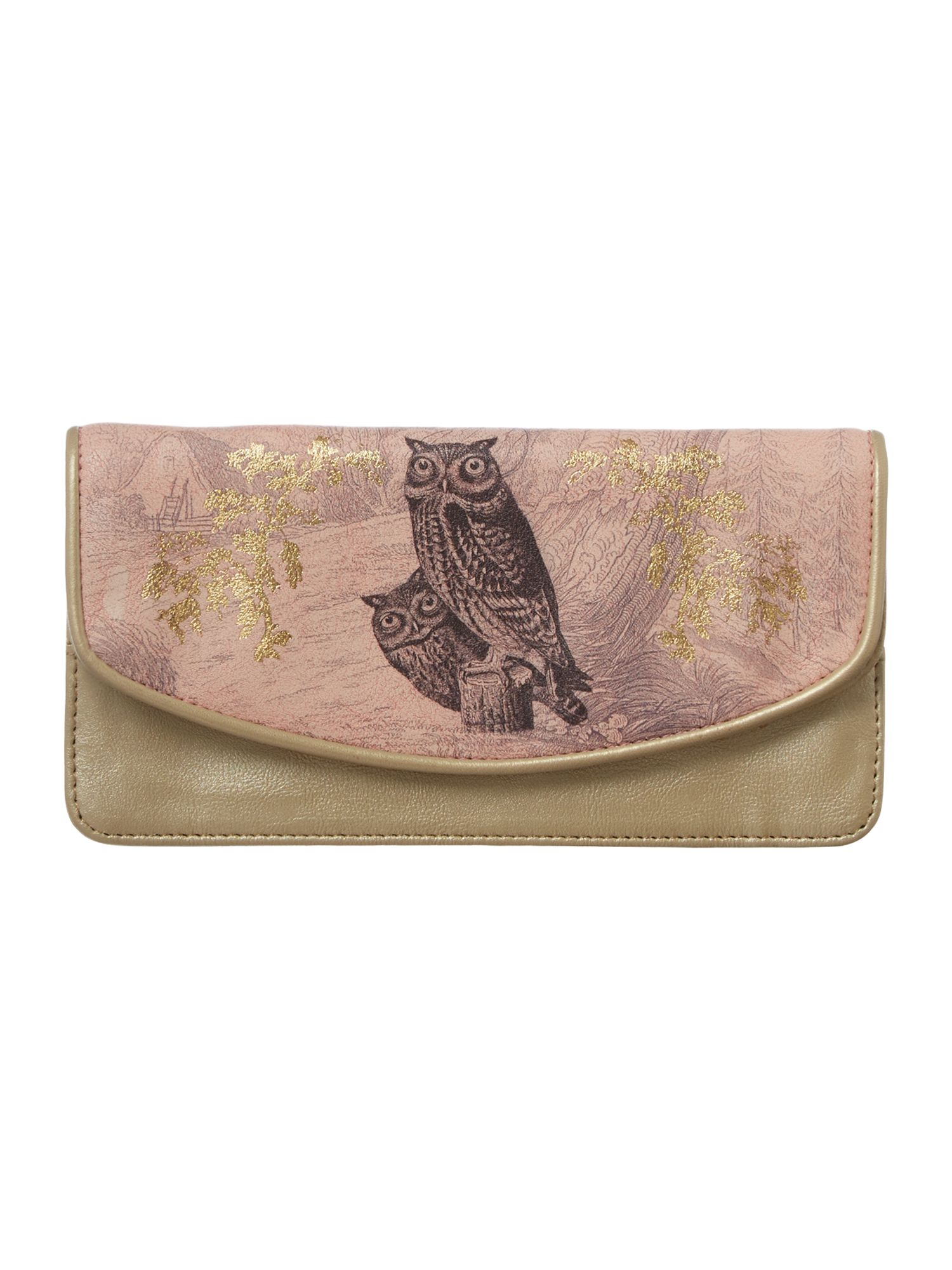 Heritage pink owl flap over purse