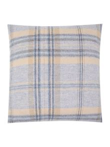 Woven check cushion, blue