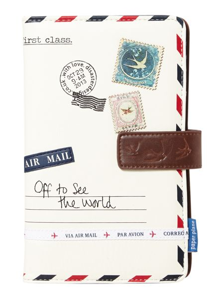 Disaster Paper plane neutral travel wallet