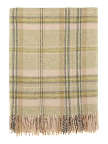 Woven check throw, apple