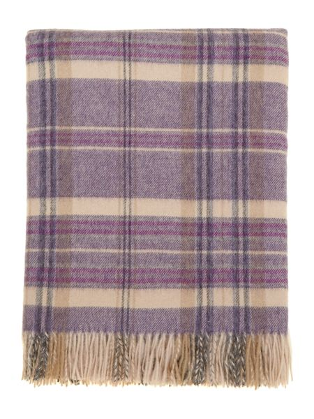 Dickins & Jones Woven check throw, purple