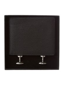 Wallet and cufflink gift set