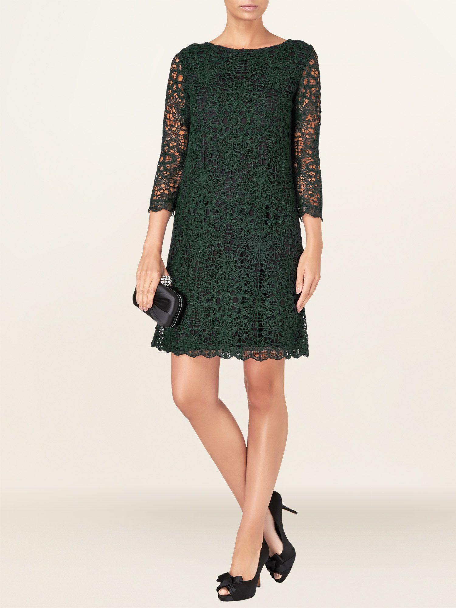 Celeste crochet lace dress