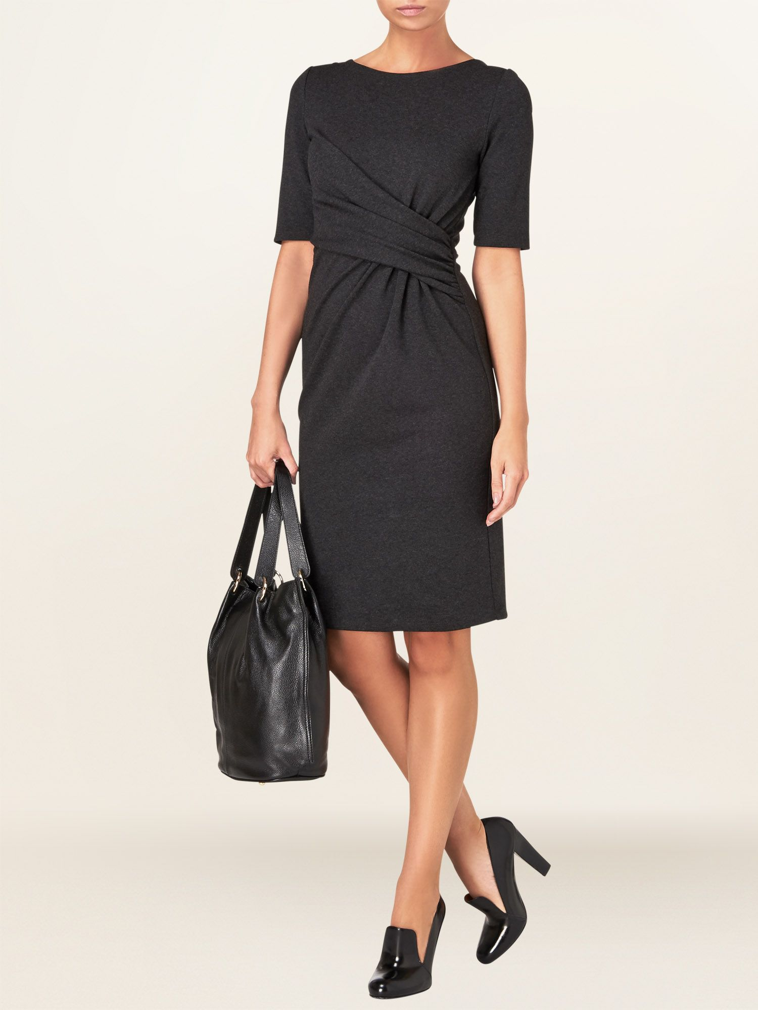 Penny side ruched dress