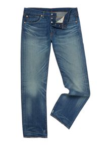 501® stockholm straight leg mid rinse jeans