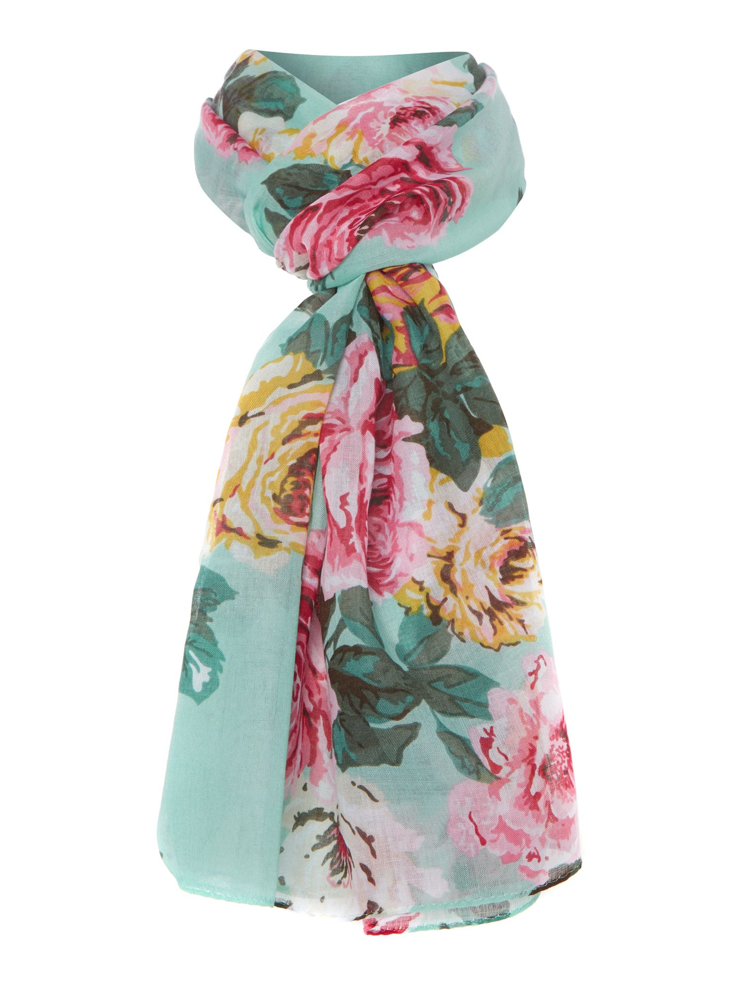 Green floral wensley scarf