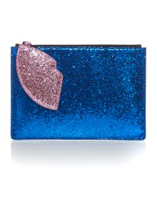 Multi-coloured glitter heart pouchette
