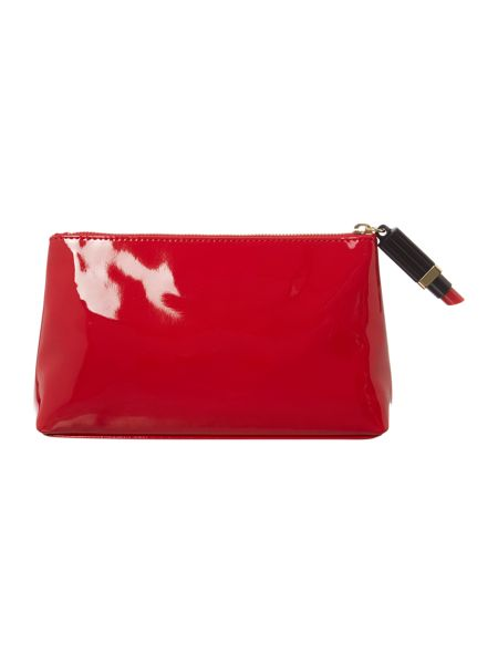Lulu Guinness Red medium patent cosmetic bag