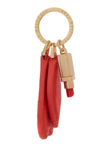 Red cut out lip keyring