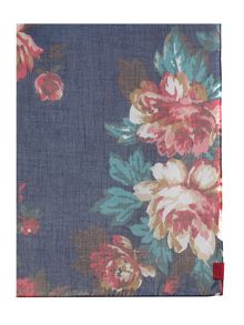 Navy floral wensley scarf