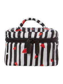 Multi-coloured stripe vanity case