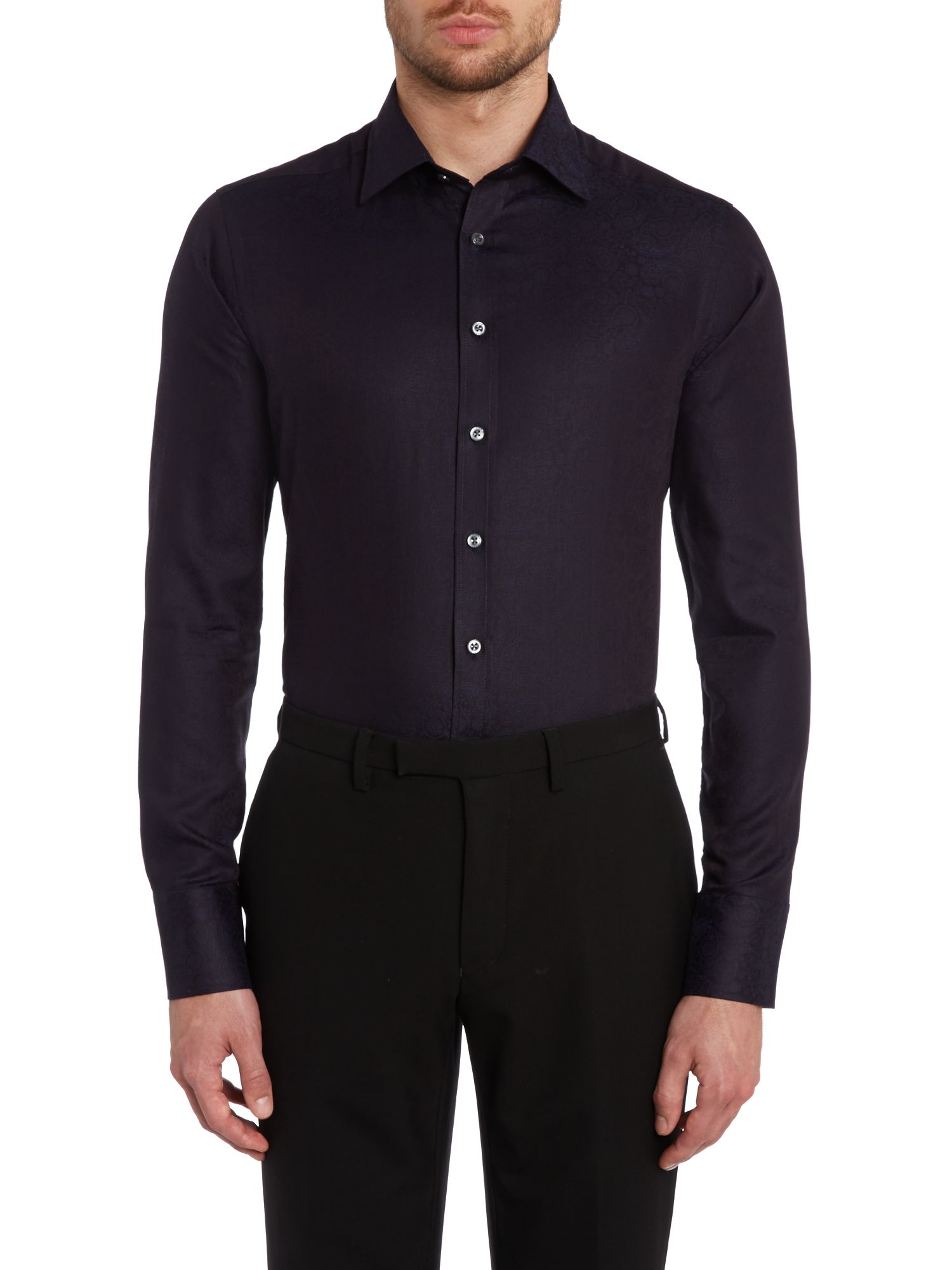 Jacquard slim fit shirt