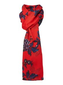 Red peony wensley scarf