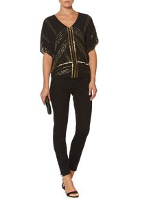 Deco embellished volume blouse