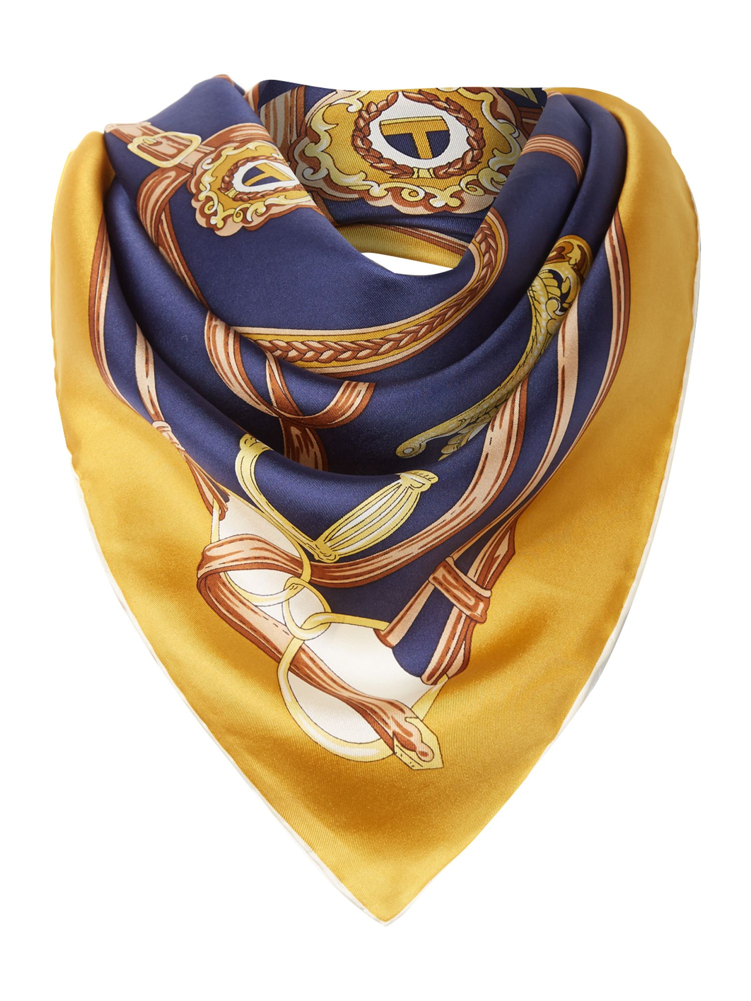 Eventing silk square burghley scarf
