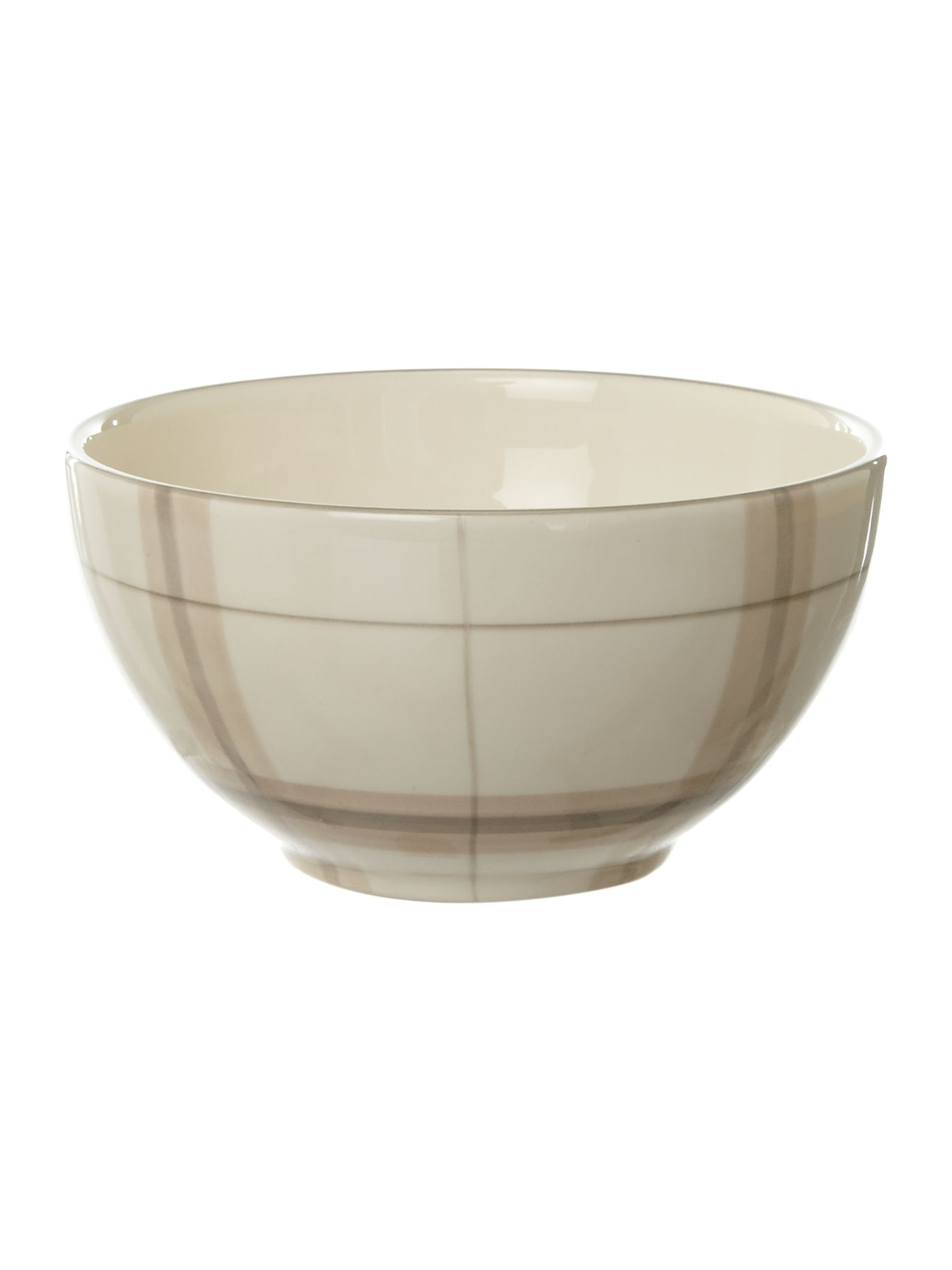 Forest check cereal bowl