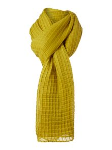Textured solid scarf