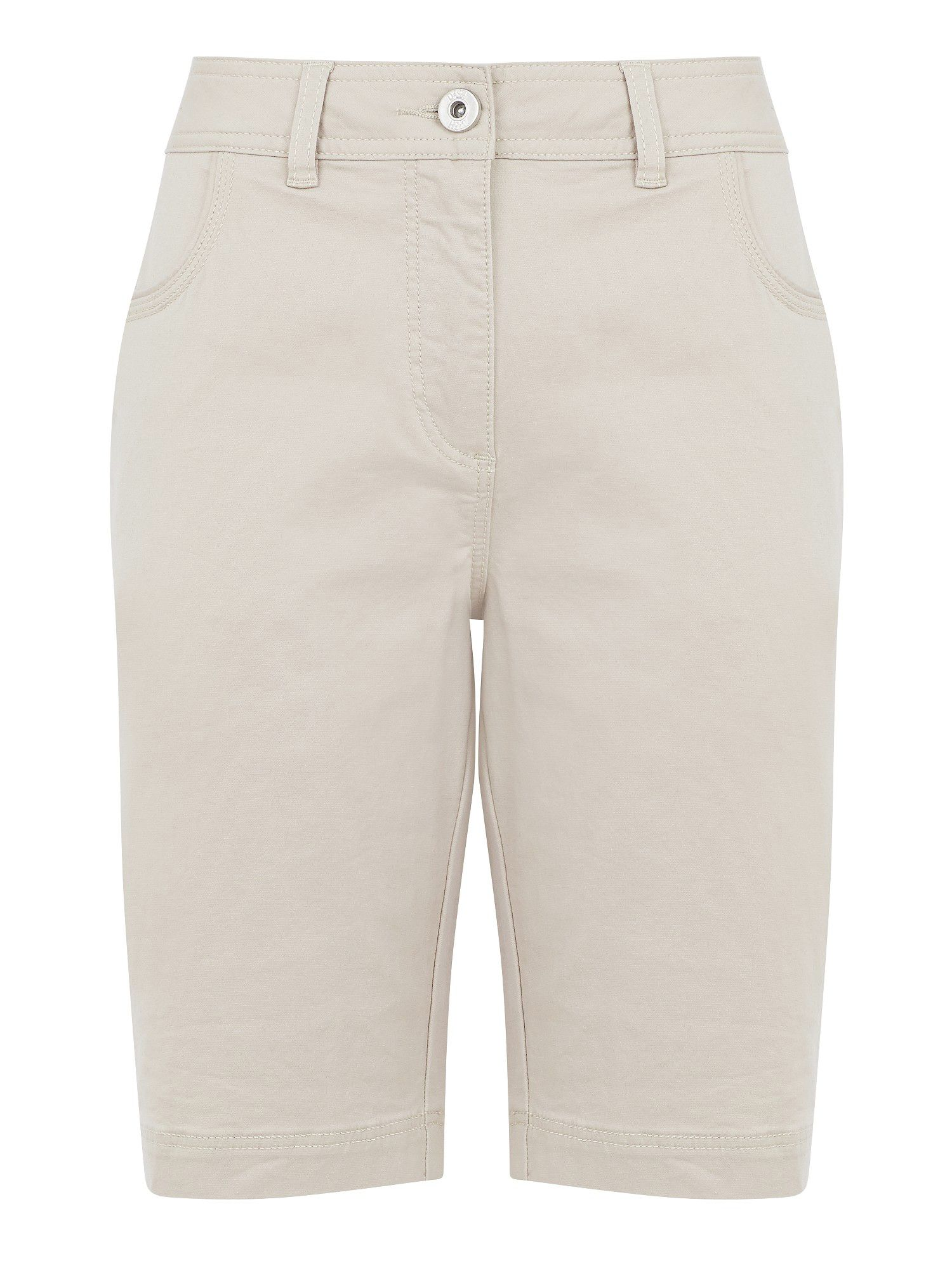 Stone cotton twill city short
