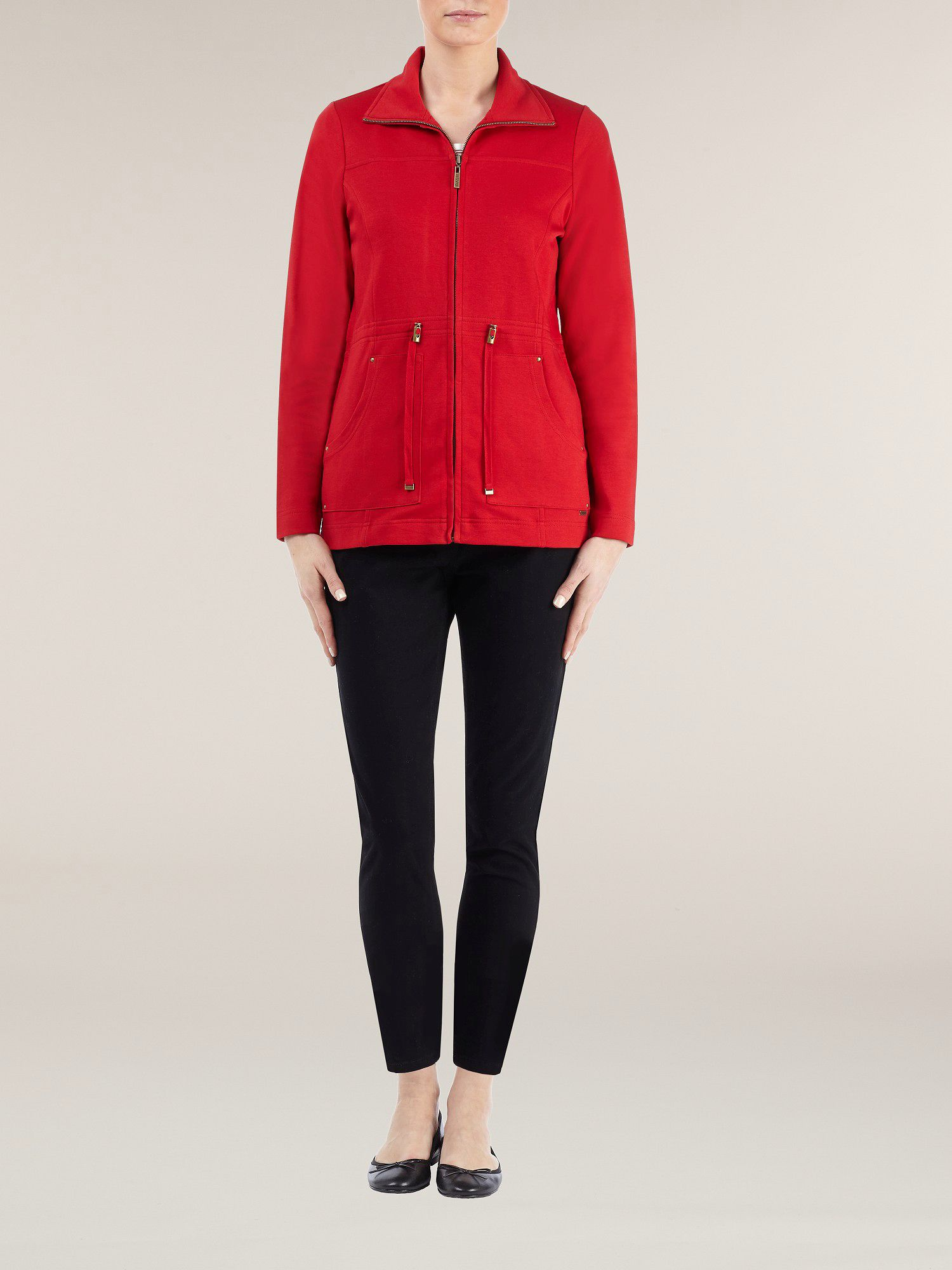 Red zip thru jacket