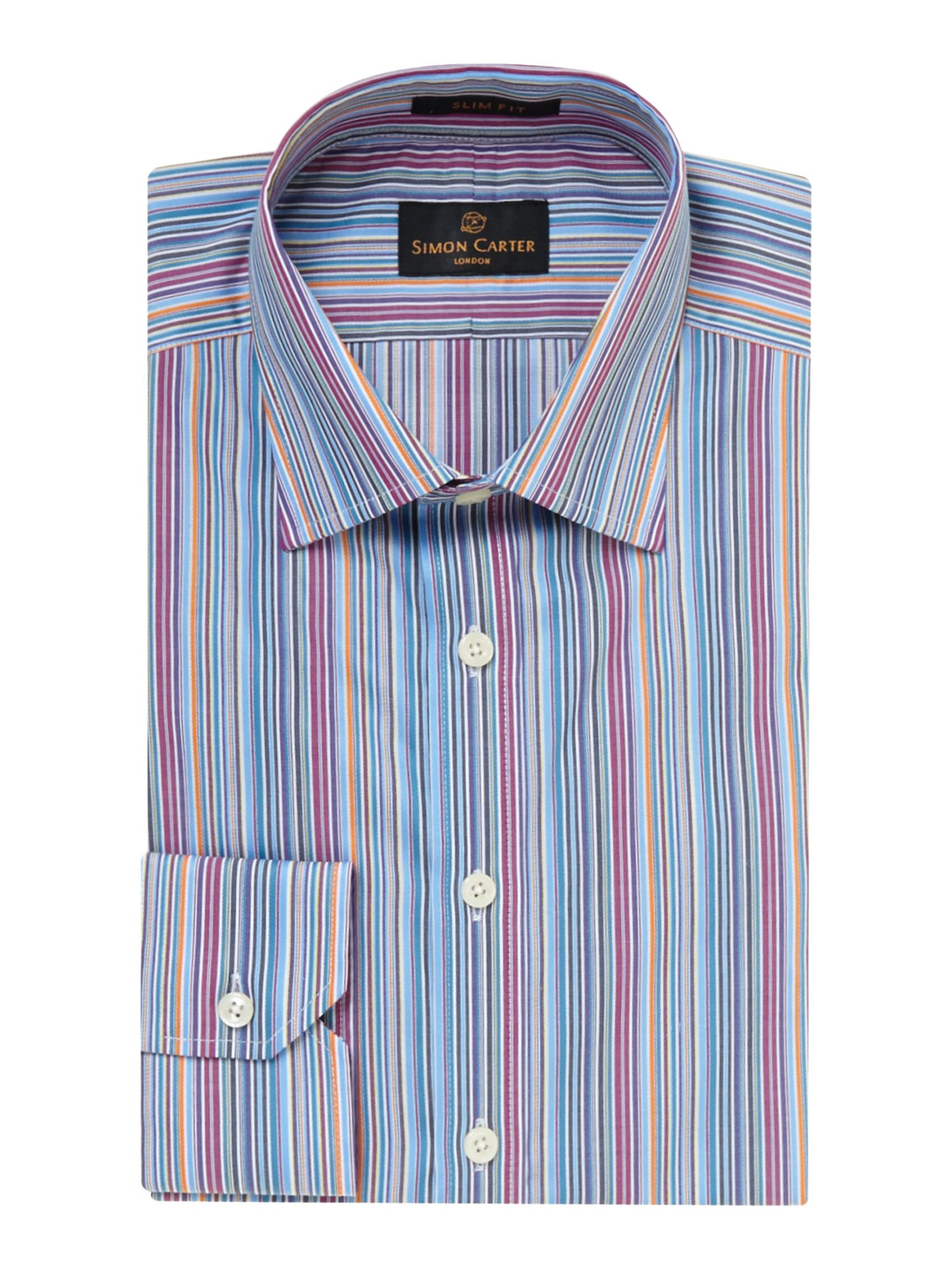 Multi striped slim fit shirt