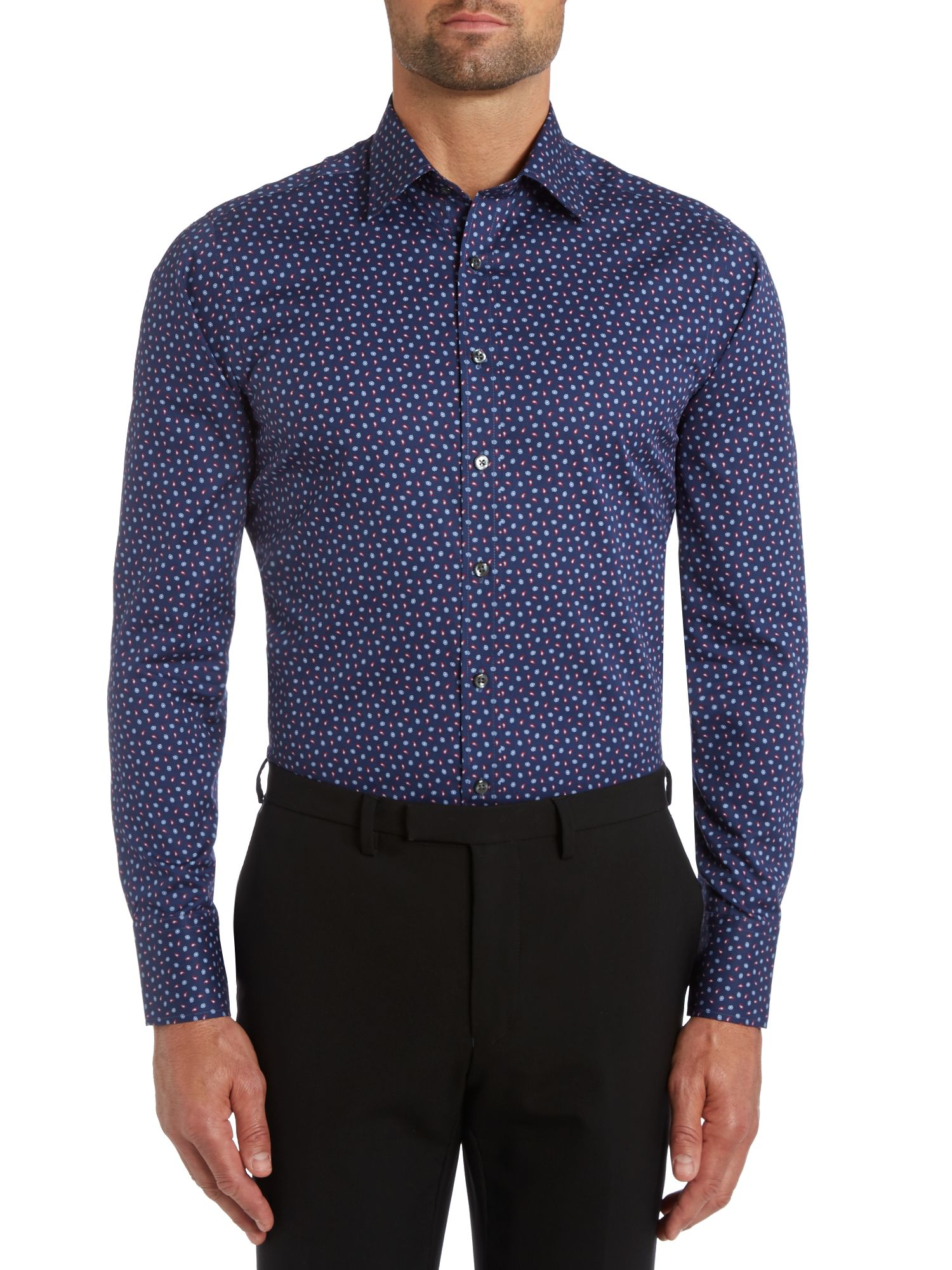 Mini floral slim fit shirt