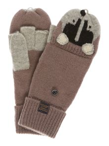 Pawsfield badger wool mix gloves