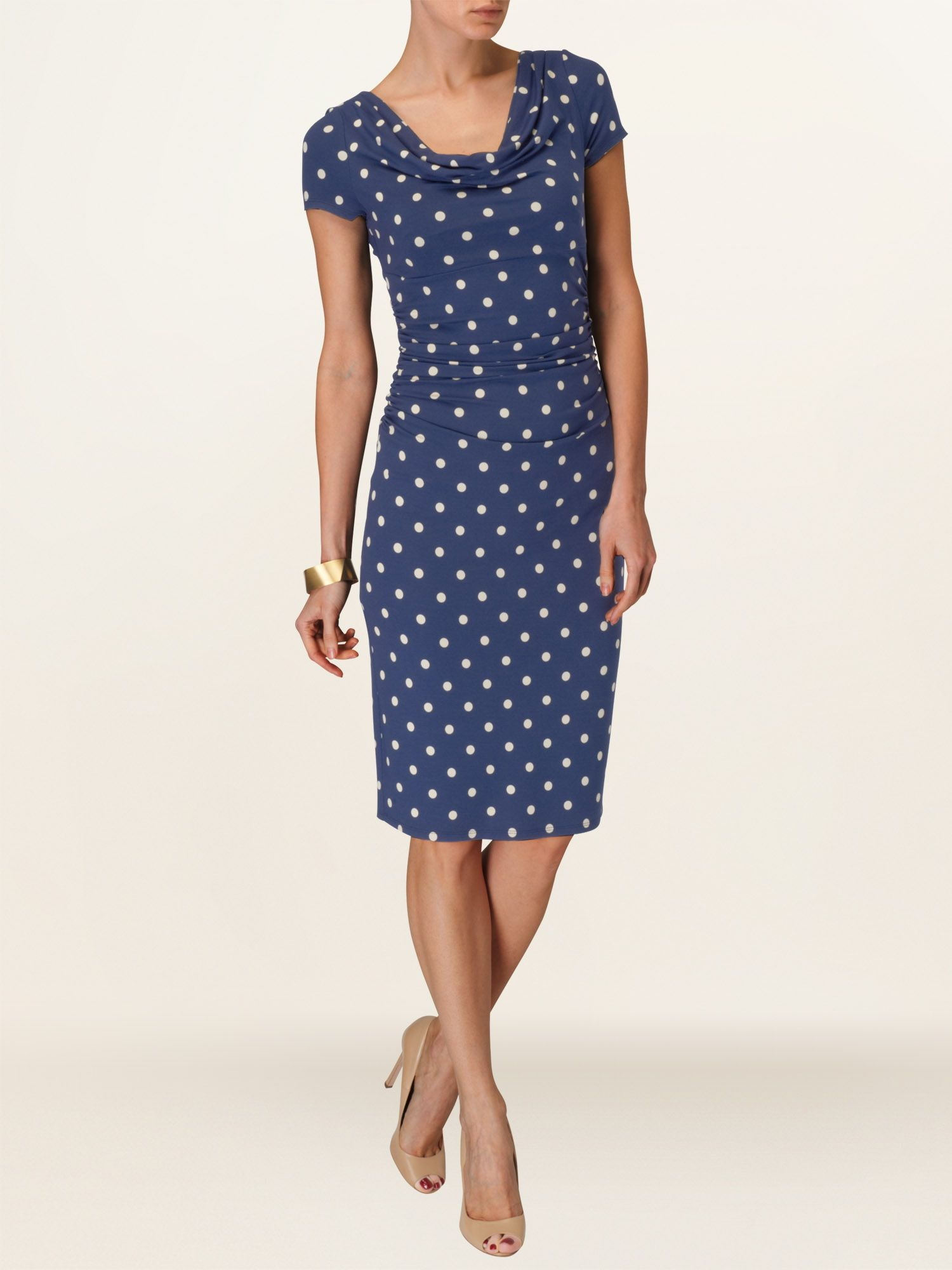 Cap sleeve liv spot dress
