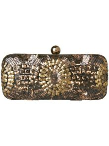 Alexis sequin clutch bag