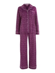 Star fleece pj set